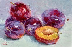 Damsons II by Lana Okiro -  sized 9x6 inches. Available from Whitewall Galleries